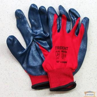 Изображение Перчатки TRIDENTпокрыты нитрилом 83V012 красные