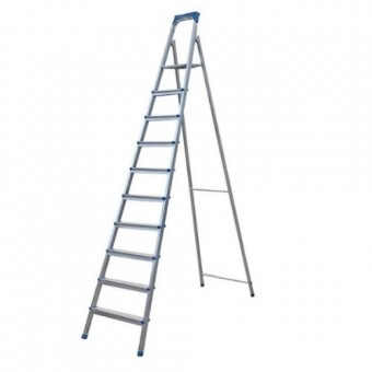 Изображение Лестница стремянка на 10 ступеней плоскоов. профиль 70-140