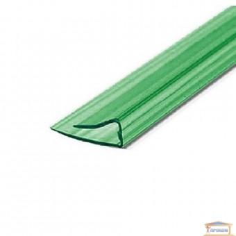 Изображение Профиль торцевой для поликарбоната (2,10 м) зеленый 10 мм купить в procom.ua
