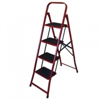 Изображение Лестница стремянка семейная 4ст метал с ковриком 70-124