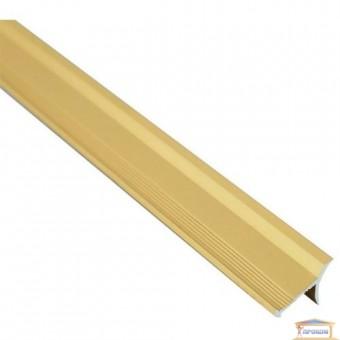 Изображение Профиль внутренний алюминиевый для плитки золото 2,7м купить в procom.ua