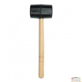 Изображение Молоток резиновый с деревянной ручкой, d-55mm 33650 купить в procom.ua