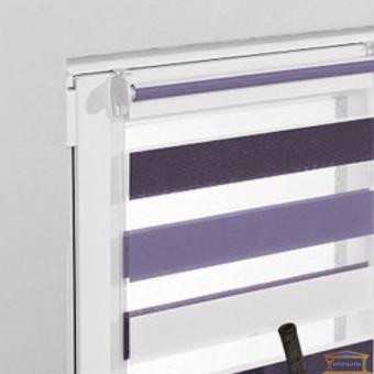 Изображение Ролета мини Zebra белый/сиреневый/фиолетовый (ZTC-4) 45см купить в procom.ua