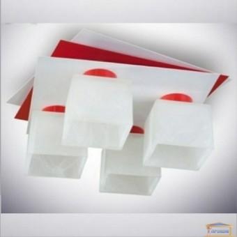 Изображение Люстра с плафоном 1007/4 белый +красный купить в procom.ua