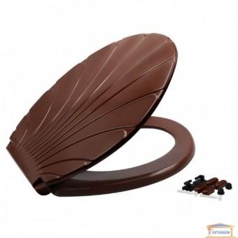 Изображение Сиденье для унитаза Ракушка коричневая
