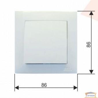 Изображение Выключатель 1-кл. белый RH VELENA  (HN-011191) перекрестный