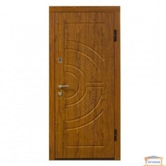 Изображение Дверь метал. Премиум 100 Адамант 860 Дуб золотой правая хром
