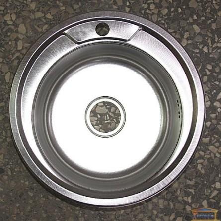 Изображение Мойка для кухни DELFI 490мм (08/180) декор купить в procom.ua - изображение 1