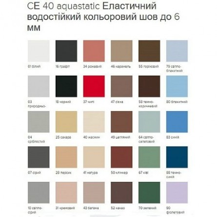 Изображение Затирка эластичный шов графит СЕ 40/2кг купить в procom.ua - изображение 3