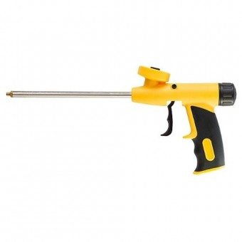 Изображение Пистолет для пены PU желто-черный ручка 2К 2060-120033 купить в procom.ua
