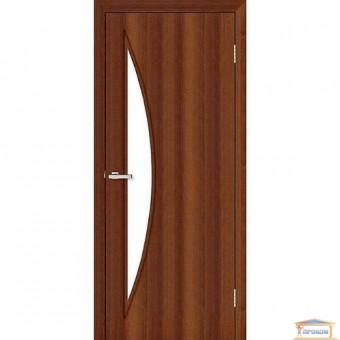Изображение Дверь МДФ Модельные Парус ПО 800 стекло сатин/орех
