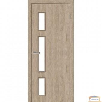 Изображение Дверь МДФ Модельные Соло ПО 800 стекло сатин/сосна Мадейра