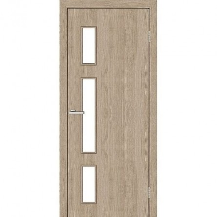 Изображение Дверь МДФ Модельные Соло ПО 800 стекло сатин/сосна Мадейра купить в procom.ua - изображение 1