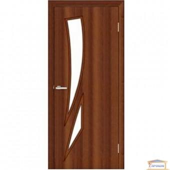 Изображение Дверь МДФ Модельные Фиеста ПО 800 стекло сатин/орех