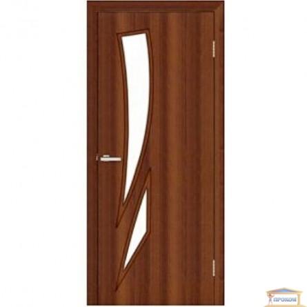 Изображение Дверь МДФ Модельные Фиеста ПО 800 стекло сатин/орех купить в procom.ua - изображение 1