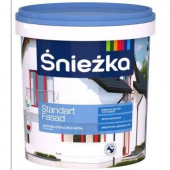 Изображение Краска Стандарт фасад Снежка 20л купить в procom.ua