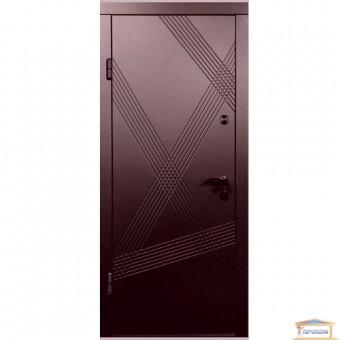 Изображение Дверь метал. ПБ 163 венге гор темный/дуб белен 860 левая