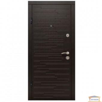 Изображение Дверь метал. ПО 66 венге горизонт темный Термопал 960 левая купить в procom.ua