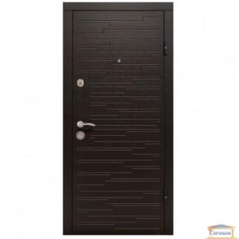 Изображение Дверь метал. ПО 66 венге горизонт темный/светлый 960 правая купить в procom.ua