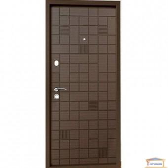 Изображение Дверь метал. Премиум 100  Каскад венге/дуб крем 960 правая