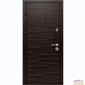 Изображение Дверь метал. ПК 66 венге горизонт темный 860мм левая АКЦИЯ! купить в procom.ua