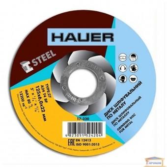 Изображение Диск шлифовальный по металлу Hauer 125x6,0х22 17-320