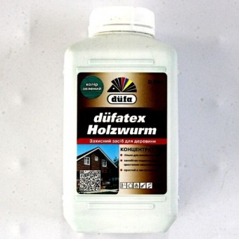 Изображение Антисептик для дерева Dufatex Holzwurm 1л зеленый купить в procom.ua