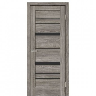Изображение Дверь МДФ Rino 02 ВG черное 800 дуб денвер купить в procom.ua