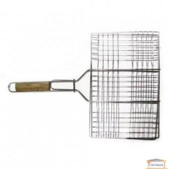 Изображение Решетка-гриль для мяса 26*35см ручка дерево 59см 73-503