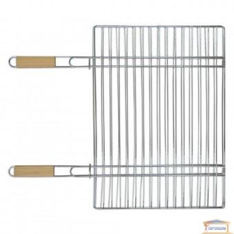 Изображение Решетка-гриль для мяса 40*57см две ручки 67см 73-506