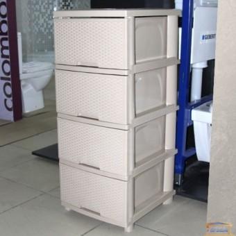 Изображение Комод 4 ящ. 392*465*955 кремовый купить в procom.ua