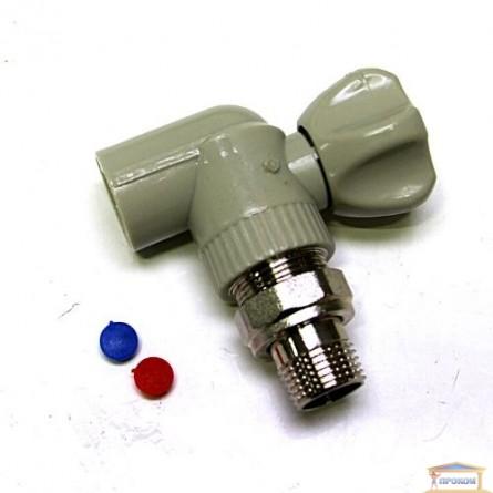Изображение Кран радиаторный угловой 1,2*1,2 KOER KR.905 купить в procom.ua - изображение 1