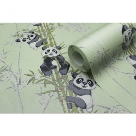 Изображение Обои флизелин. ДХН-1427/2 (1,06*10м ) панды декор салатовый купить в procom.ua - изображение 3
