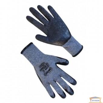 Изображение Перчатки ХБ серые с черным с неполным латекс покрытием 9249 купить в procom.ua