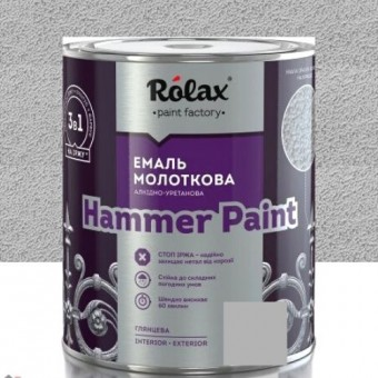 Изображение Эмаль Ролакс молотковая серебрянная 306 2,0л купить в procom.ua