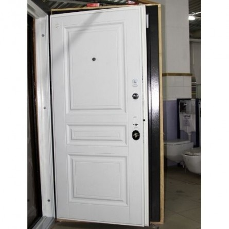 Изображение Дверь метал. ПК 198 серая текстурная/белая текстур. 860 лева купить в procom.ua - изображение 5