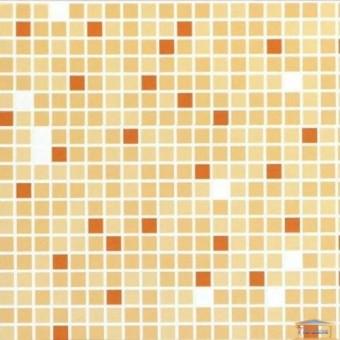 Изображение ПВХ панель Мозаика Микс оранжевый 956*480мм купить в procom.ua