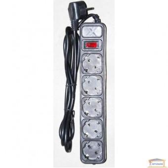 Изображение Фильтр компьют. серый 4,5м 5 розеток Maxxtro купить в procom.ua
