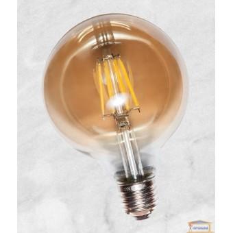 Изображение Лампа Эдисона G95 LED c сапфировой нитью 4W Amber 2700K
