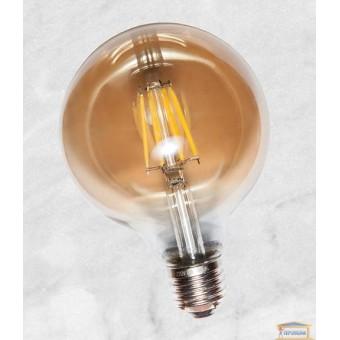 Изображение Лампа Эдисона G95 LED c сапфировой нитью 6W Amber 4000K