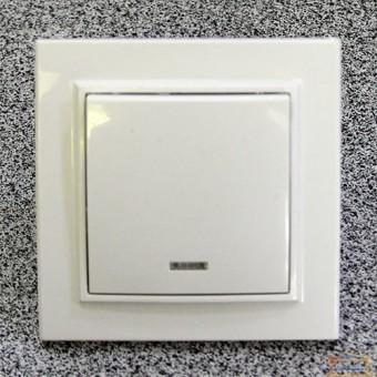 Изображение Выключатель 1-кл. внутр. белый с подсветкой Right Hausen KIRA (HN-016021)