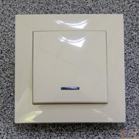 Изображение Выключатель 1-кл. внутр. кремовый с подсветкой Right hausen velena (HN-011023) купить в procom.ua - изображение 1