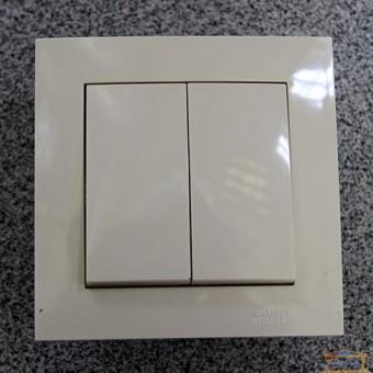 Изображение Выключатель 2-кл. внутр. кремовый Right Hausen Velena (HN-011043) купить в procom.ua
