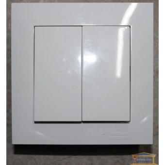 Изображение Выключатель 2-кл. внутр. белый Right hausen velena (HN-011041) купить в procom.ua