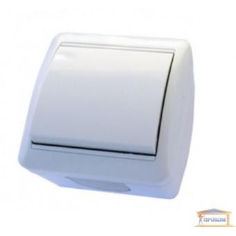 Изображение Выключатель 1-кл. наруж. белый Right hausen BERTA IP54 (HN-013011)   купить в procom.ua