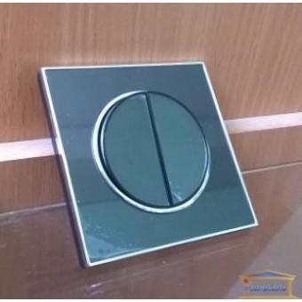 Изображение Выключатель 2-кл. внутр. черный LAURA RH-015042 купить в procom.ua