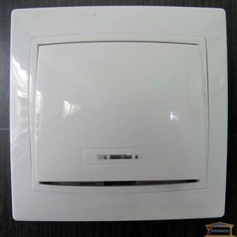 Изображение Выключатель 1-кл белый с подсветкой АСКО