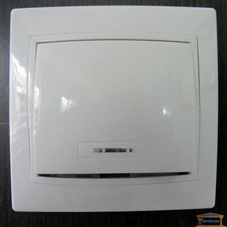 Изображение Выключатель 1-кл белый с подсветкой АСКО купить в procom.ua - изображение 1