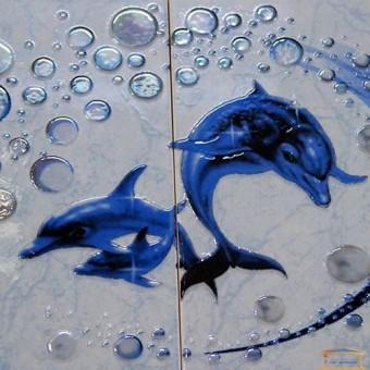 Изображение Декор Аква 20*30 синий (к-т 2шт) купить в procom.ua
