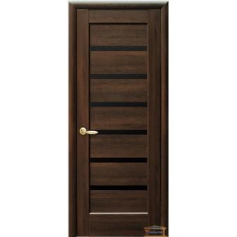 Изображение Двери межкомнатные ПВХ Линея каштан стекло BLK